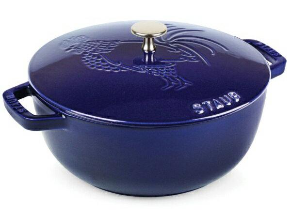 Staub ストウブ ルースター 24cmエッセンシャル・オーブン (サファイアブルー) Rooster Design 3.75QT:輸入セレクトショップハートランド