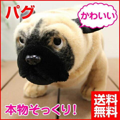 【★ほぼ全品ポイント10~35倍キャンペーン中★】 犬 ぬいぐるみ パグ [いぬ イヌ リアル 本物 そっくり かわいい] 送料無料