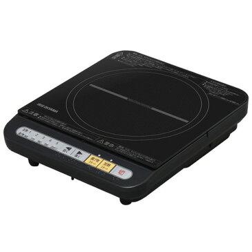 【IRIS/アイリスオーヤマ】 IHコンロ鍋セット 1000W ブラック/レッド IHKP-3420-B/R