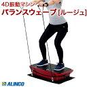 【ALINCO/アルインコ】 4D立体的振動 フィットネスマシン バランスウェーブ ルージュ エクササイズバンド 床面保護マット エクササイズベルト 腕時計型リモコン付き 3D FAV4319