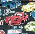 コットンリネンキャンバス ONEWAY /カワグチ ミヤコ/生地/布/綿麻/コットンリネン/レトロカー/オールドカー/入園入学/くるま/車