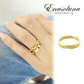 Enasoluna(エナソルーナ)Cut ring(b) 【EN-RG-1176b】K18 18金 イエローゴールド