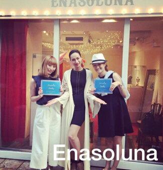 Enasoluna(エナソルーナ)Bowtienecklace15秋冬予約【NK-1063】