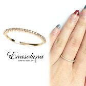Enasoluna(エナソルーナ)Tiny ring(ダイヤモンド) 【RG-1016】 K10 10金 ダイヤモンド イエローゴールド リング ダイヤ ダイア  8号 11号