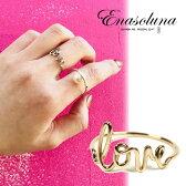 Enasoluna(エナソルーナ)Love ring 【RG-979】K10 10金 リング 指輪 イエローゴールド 11号 ゴールド メッセージリング