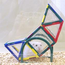 トイビルダー6037/おもちゃブロック組立てプレート遊び場トンネルお家ハウスシーソー小動物ハムスタージャンガリアンゴールデン