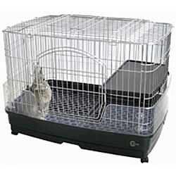 クリアケージ<M>/ケージ ゲージ 小屋 ハウス お家 引き出し 2階 クリアカバー プラスチックスノコ 小動物 ウサギ うさぎ フェレット プレーリー チンチラ マルカン