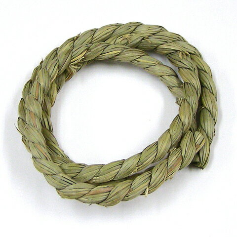 GrassToyロープ直径10mm×1M/いぐさおもちゃかじり木ストレス解消小動物鳥ウサギうさぎハムスターモルモットチンチラデグ