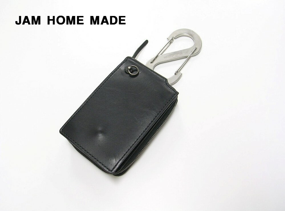 finest selection 431ca a34c0 BLACK【JAM HOME MADE [ジャムホームメイド] カラビナ付き Zip ...
