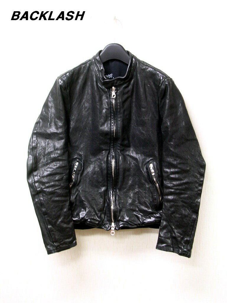 メンズファッション, コート・ジャケット S 205,200BACKLASH 1254-01 Single Riders Jacket. Italian shoulder (Cow leather)