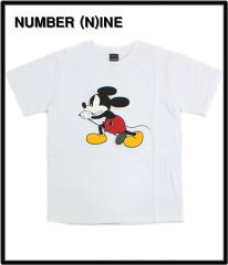 2 WHITE/ORGINAL【NUMBER (N)INE [ナンバーナイン] MICKEY MOUSE TEE ミッキーTシャツ】NWD002