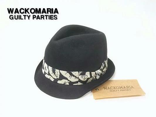 メンズ帽子, ハット L BLK-SILVER KISSWACKO MARIA LAME KISS THR-02-FATIMA