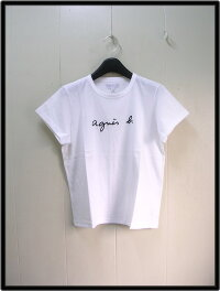 3レディース白【agnesb.アニエスベーロゴTシャツ】