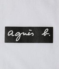 M白White【agnesb.pourADAMETROPE'FEMMEBOXLOGOT-shirtsアニエスベーアダムエロペフェムボックスロゴTシャツ】