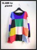 【GLAMB by glamb グラム バイ グラム Color Pallet knit カラー パレット ニット セーター GG16WT/KNT02】【中古】