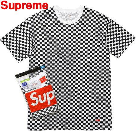 トップス, Tシャツ・カットソー MSupreme Hanes Checker Tagless T-Shirts T