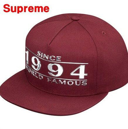 メンズ帽子, キャップ Burgundy Supreme Way Back 5-Panel SINCE 1994 WORLD FAMOUS