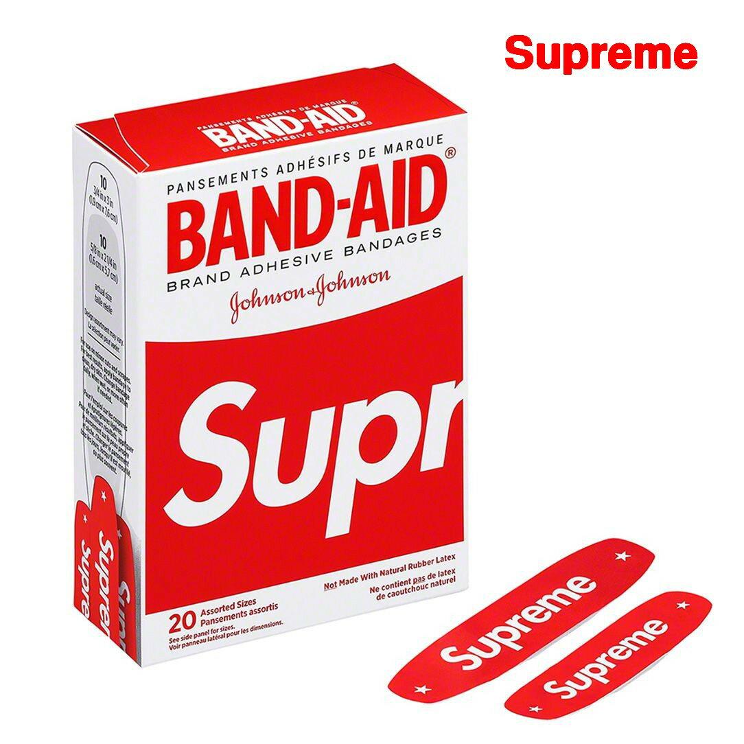 バッグ・小物・ブランド雑貨, その他 Red Supreme 2019SS Band Aid JonsonJohnson