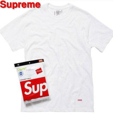 トップス, Tシャツ・カットソー M White x 3Supreme x Hanes Tagless T-Shirts (3-Pack) x T
