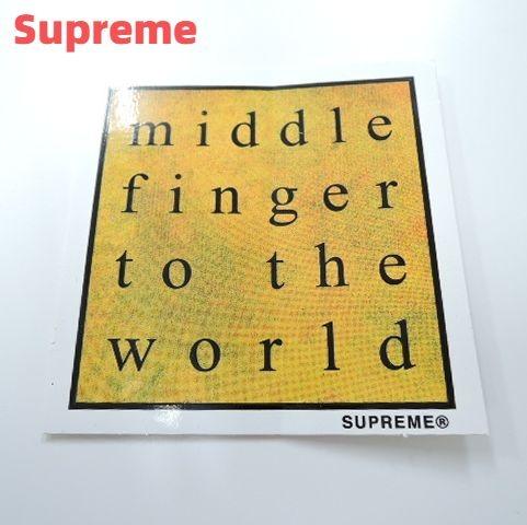 バッグ・小物・ブランド雑貨, その他 Supreme Middle Finger To The World Sticker
