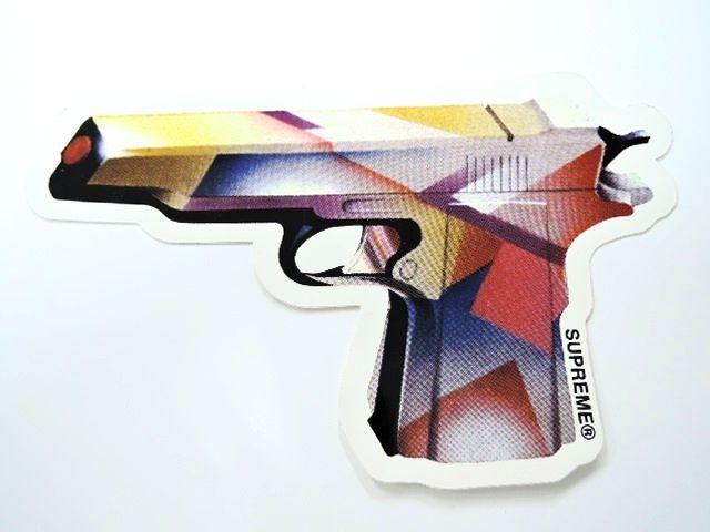 バッグ・小物・ブランド雑貨, その他 Supreme Mendini Gun Sticker 16ss