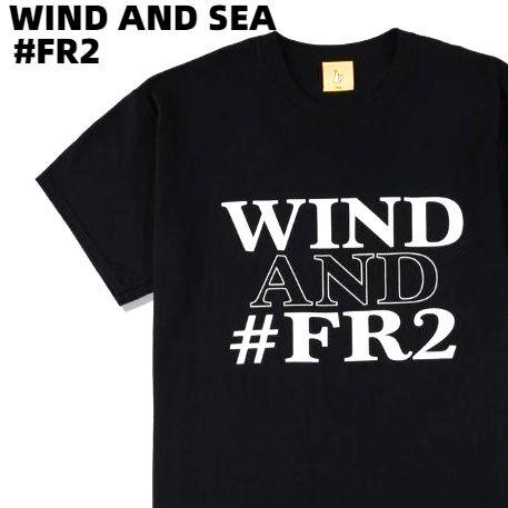 トップス, Tシャツ・カットソー LWIND AND SEA COLLABORATION WITH FR2 WIND T-SHIRT BLACK (FR2-02) T T
