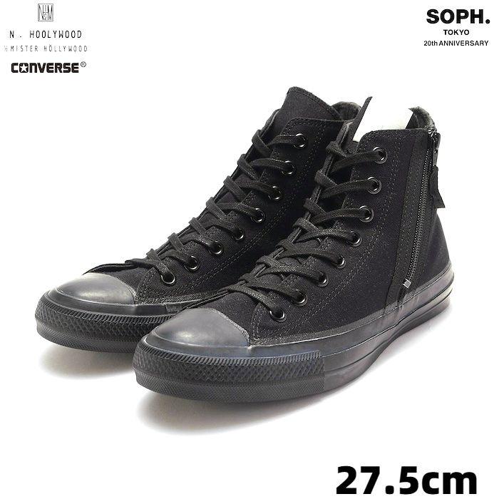 メンズ靴, スニーカー  USA9(27.5cm)SOPHNET. N.HOOLYWOOD CONVERSE ALL STAR HI ZIP UP SOPH-192150 ALL STAR 100 Z HI SN BLACK 2019AW