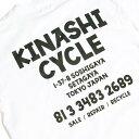 XL【KINASHI CYCLE ロングTシャツ(address)木梨サイクル ロンTシャツ (アドレス) キナシサイクル 白 ホワイト 木梨憲武】