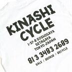 M【KINASHI CYCLE ロングTシャツ(address) 木梨サイクル ロンTシャツ (アドレス) キナシサイクル 白 ホワイト 木梨憲武】