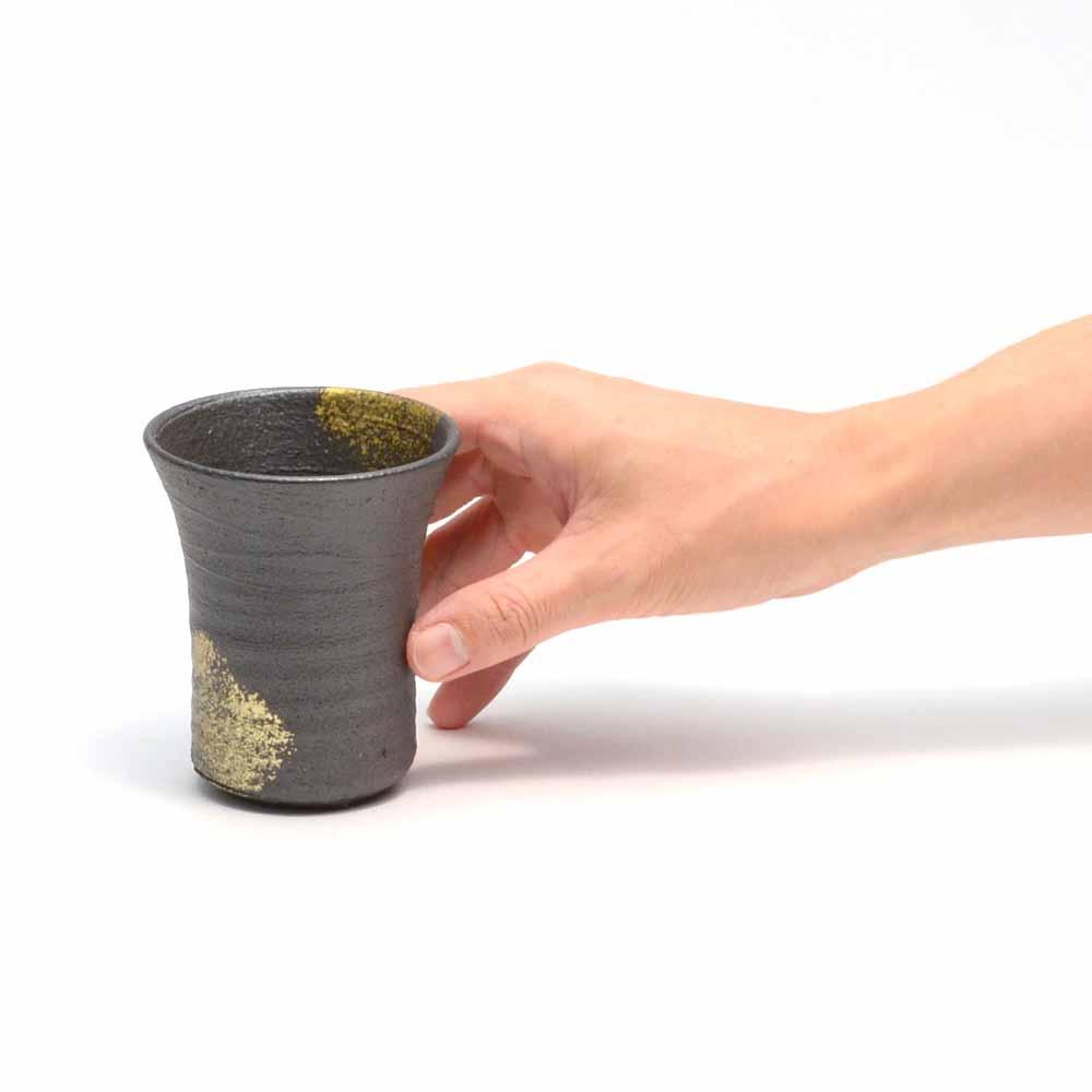 へちもん 金彩黒化粧 フリーカップ