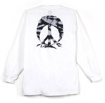 Gnarly Tie Dye Peace Tree Long Sleeve T-Shirt White M Tシャツ 送料無料