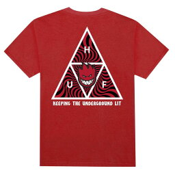 HUF X Spitfire Triple Triangle T-Shirt Red S Tシャツ 送料無料