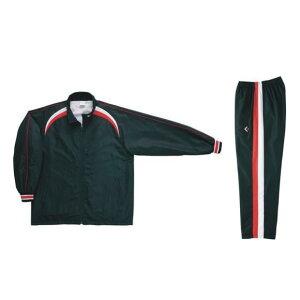 コンバース ウォームアップジャケット&ウォームアップパンツセット ブラック×ホワイト CB162506S-1911 & CB162506P-1911 ネーム刺繍無料