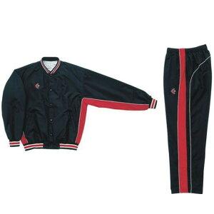 コンバース ウォームアップジャケット&ウォームアップパンツセット ブラック×レッド CB14112S-1964 & CB14112P-1964 ネーム刺繍無料 送料無料