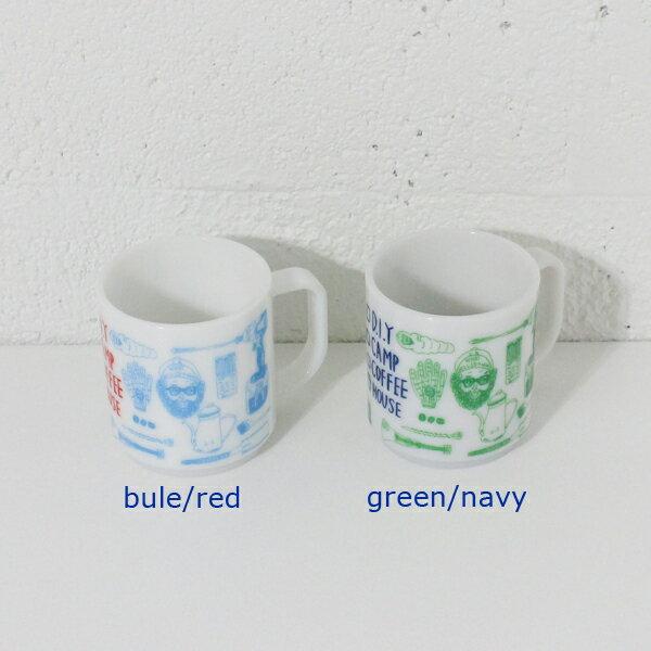 chi-bee/チービー NELSONギア マグカップ small グリーン/ネイビー