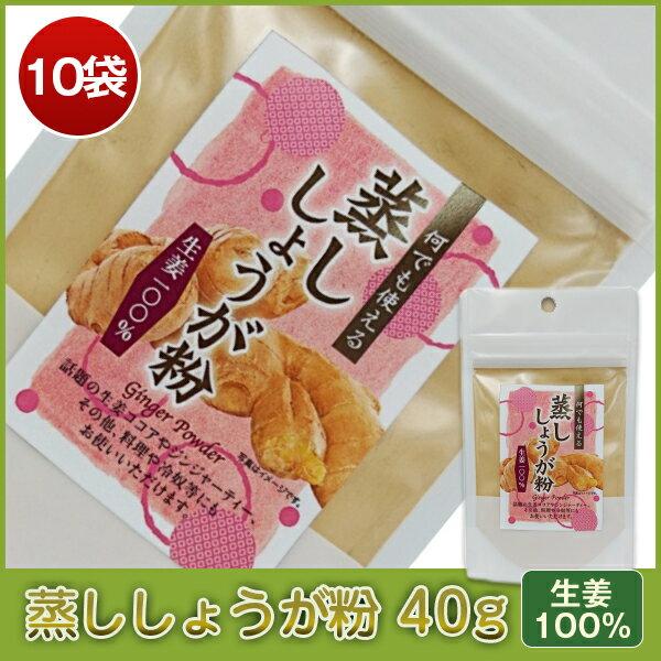 【送料無料】蒸ししょうが粉(パウダー)40g×10袋【当店より出荷】