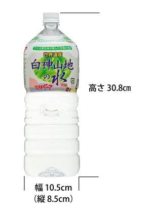 【定期購入】送料無料!白神山地の水(2L*6本)×2ケースセット白ラベル・黒ラベル選択できます