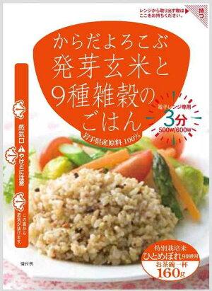 発芽玄米と9種雑穀のごはん160g×6袋セット