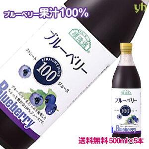 ブルーベリー100%ジュース5本