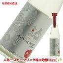 (313)福島県蔵元直送!瓶内発行スパークリング純米吟醸 300ml×1本 人気酒造 日本酒 父の日 お酒