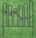 【ポイント10倍 1月末日まで】【送料無料】アイアン ミニガーデンフェンス リーフ 4枚セット FS804[g5]