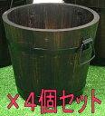 【ポイント10倍 5月末日まで】焼杉プランター 深型 中 「4個セット」[g8]