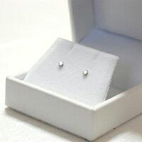 すぐお届けできます★Pt プラチナ 天然ダイヤモンド ピアス 計0.1ct スタッド ダイヤピアス