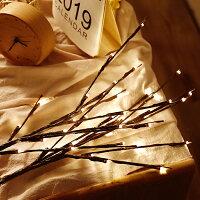 ブランチツリー4本セットLEDクリスマスツリー枝ツリーイルミネーションライトブランチライトおしゃれ北欧クリスマス枝ツリー単3電池使用電飾送料無料