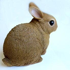 (3/9まで2,000円以上購入で送料無料)リアル置物ウサギ貯金箱おしゃれペットバンクRABBIT