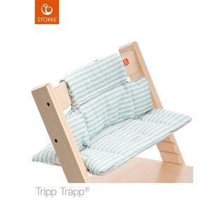 【あす楽対応】ベビーチェアオプション Stokke Tripp Trapp Cushion(ストッケ トリップ トラップ クッション撥水) アクアストライプ【コンビニ受取対応商品】