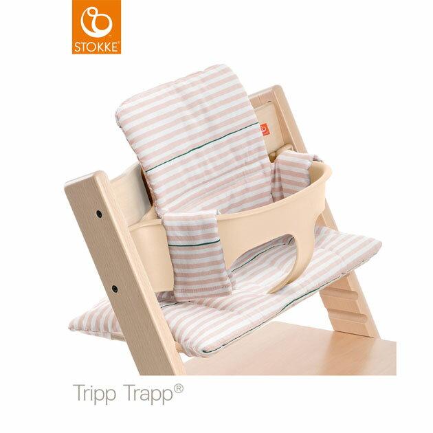 【】ベビーチェアオプション Stokke Tripp Trapp Cushion(ストッケ トリップ トラップ クッション撥水) ピンクストライプ【コンビニ受取対応商品】