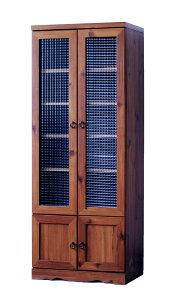ビストロ食器棚BTC150-60G(LBR)