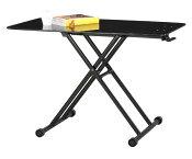 MIP-38(BK)リフティングテーブル昇降テーブルブラックガラス天板昇降テーブル【TOPアウトレット】【広告掲載店舗】