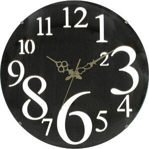 丸いシンプルなフォルムの文字盤がお洒落な掛け時計 おしゃれ デザイン時計 とけい 丸 ガラス インテリア 雑貨★壁掛け時計レトロ ブラウン ギフト【02P03Dec16】